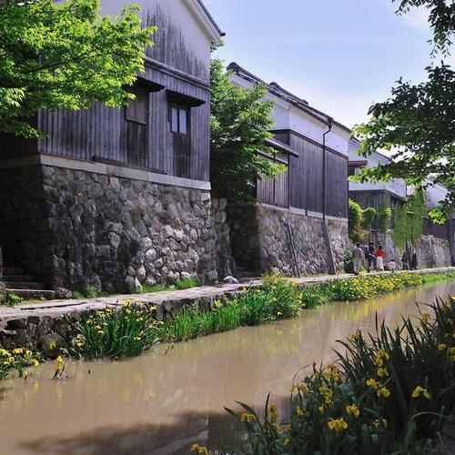 水郷のまち、滋賀県近江八幡市の八幡堀