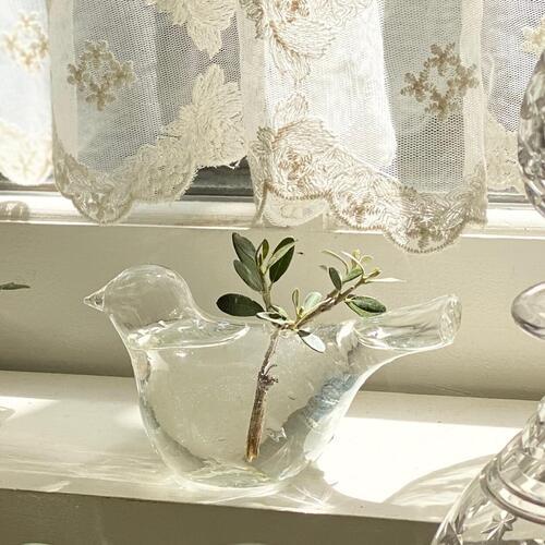 梅雨の晴れ間 小鳥の花瓶